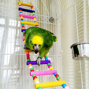 80cm-Large-Parrot-Ladder-Toys-Pet-Bird-Wooden-Climb-Swing-Climb-Chew-Budgie-Cage