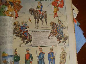 Corriere Dei Piccoli Originale Anni '30 L'esercito Spagnolo