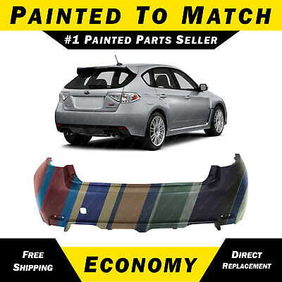 New Painted To Match Rear Bumper Cover For 2008 2014 Subaru Impreza Wrx Wagon Ebay