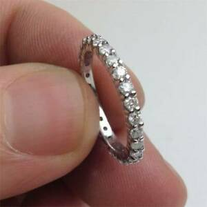 3Ct-Round-Cut-Diamond-Full-Eternity-Dainty-Wedding-Band-14K-White-Gold-Finish