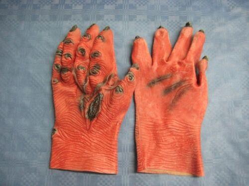 Teufelshände mit Brandflecken - Halloweenhandschuhe - Teufelshandschuhe
