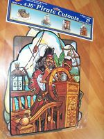 1996 Beistle 4 Pack 16 Pirate Adventures Diecut Cutouts Decorations Rare