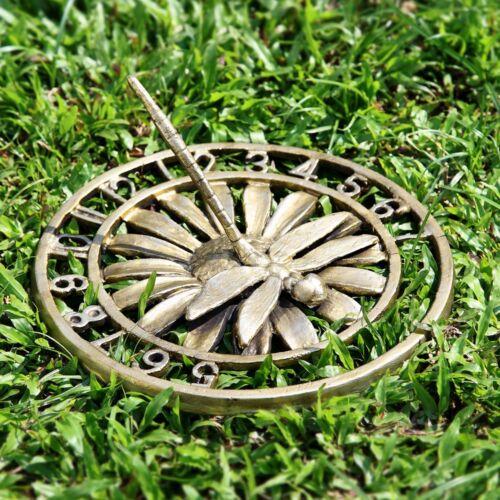"Dragonfly Garden Sundial On Daisy Flower Garden Decor  10/""D"