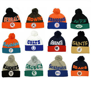 wholesale dealer df74b bc937 ... wholesale image is loading nfl mitchell ness throwback knit hat with  33568 d02a0