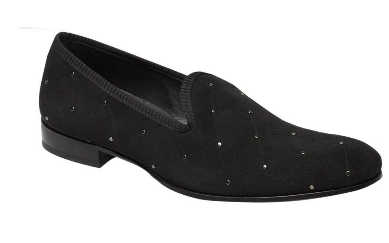 Mezlan TALO Men's nero Quilt -Stitched  Studded Sude Slip on Loafer scarpe 8278  moda