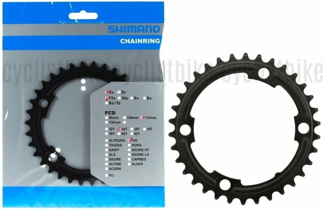 SHIMANO 105 5800-S 36T X 110MM 11-SPEED SILVER BICYCLE CHAINRING FOR 50//34T