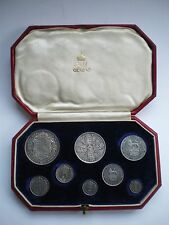 1911 ROYAL MINT KING GEORGE V PROOF 8 COIN SET - Halfcrown to Maundy Penny