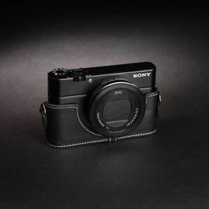 Leather Camera Case Bag Grip Strap for Sony RX100 Mark II III IV V M2 M3 M4 M5