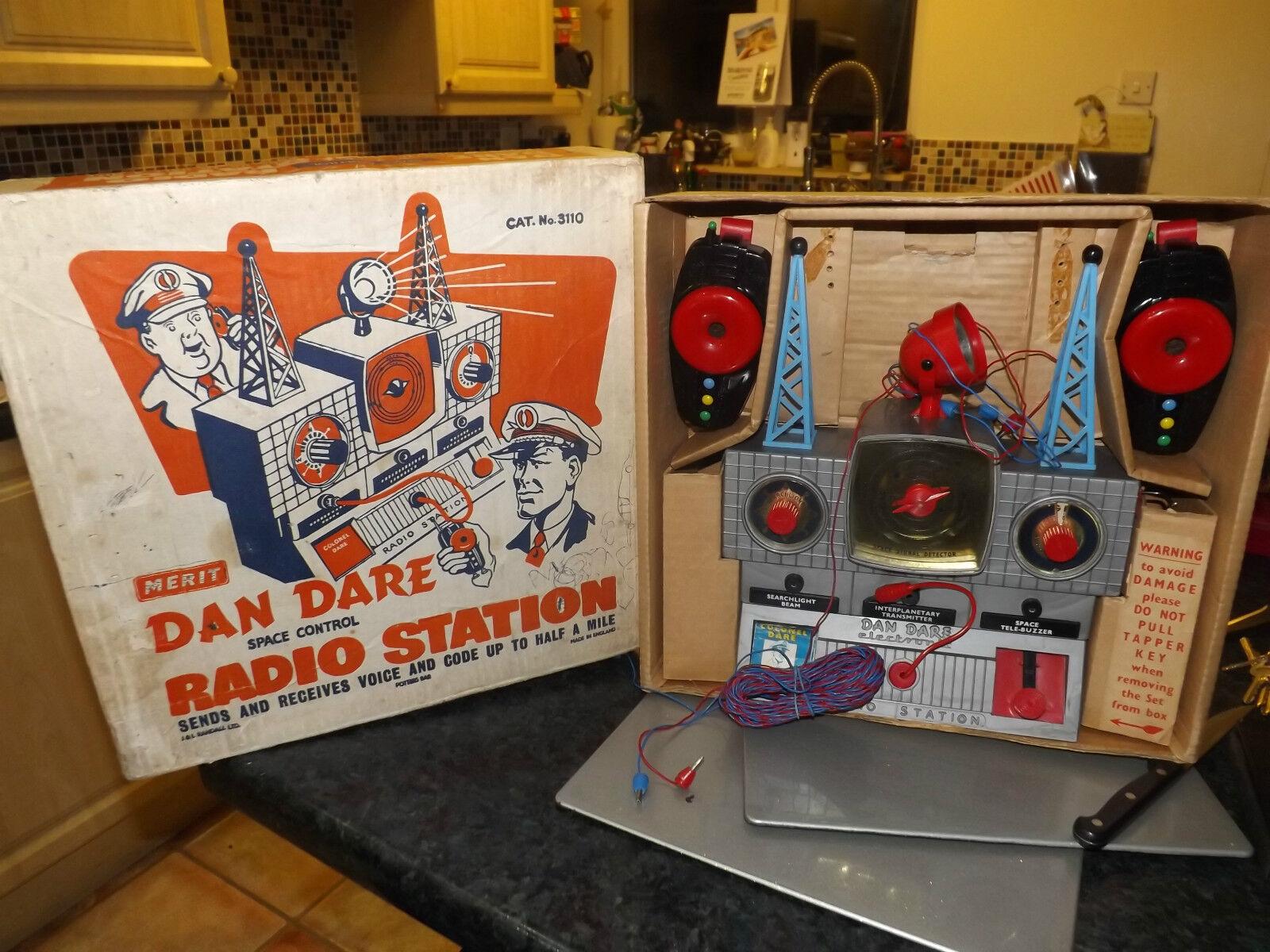 Vintage merit  Dan Dare Space Control Radio Station mint j & l randall and co