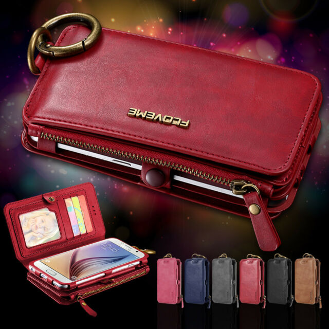 new concept 014dd 46f71 LUXURY PU LEATHER WALLET COVER FLIP PHONE CASE IPHONE SAMSUNG WOMENS MENS  PURSE