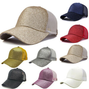 Details about Women s Ponytail Baseball Cap Sun Hat Casual Cotton Snapback  Outdoor Sports Hats f3366f5c8d3