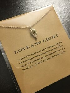 Image is loading Brand-New-Gold-Dipped-Love-and-Light-Necklace-
