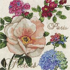 Cross Stitch Kit Design Works Paris Fleurs French Garden Flower Sampler #DW2848