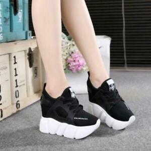Womens-Platform-High-Wedge-Heel-Creeper-Shoes-Mesh-Fashion-Sneakers-Athletic-sz