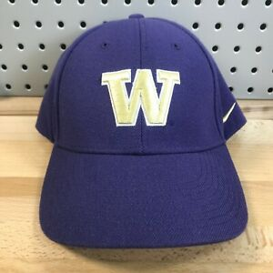 Vintage-Washington-Huskies-NCAA-College-Team-NIKE-Hook-amp-Loop-Back-Hat-EUC-Cap