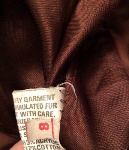 da Coat Made beige colore donna Fur Mink taglia 8 Faux In Tissavel England marrone nwRx4q06q