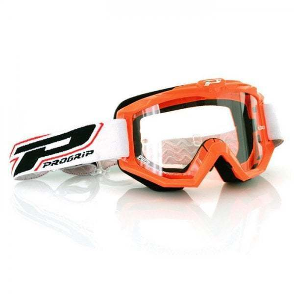 Pro Grip Adults 3201 Race Line Motocross MX Enduro Bike Goggles - orange