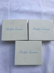 Details About Polo Ralph Lauren White Baby Blue Gift Box 3 Small Gift Boxes