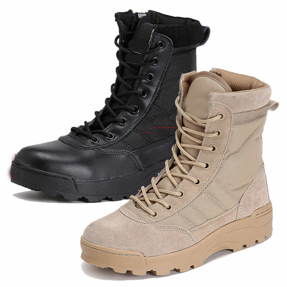 Men's Tactical Army Combat Boots Canvas shoes Military Warm Outdoor