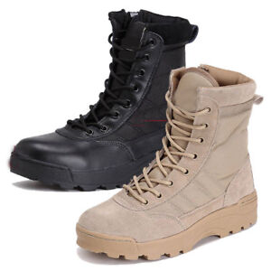Men-Canvas-leather-Shoes-Military-Tactical-Army-Battle-Combat-Boots-warm-outdoor