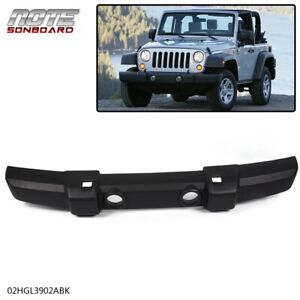 New Front Bumper Cover Textured With Fog Light /& Tow Hook Holes For 2007-2018 Jeep Wrangler JK Direct Replacement 1FN67RXFAA