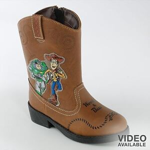 3c9852eee4c Details about Toy Story LIGHT UP Cowboy BOOTS shoes Halloween Rodeo Buzz  Woody NEW