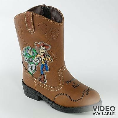 Toy Story LIGHT UP Cowboy BOOTS shoes Halloween Rodeo Buzz Woody NEW