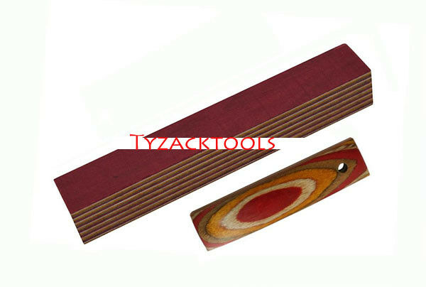 Tyzack Wood Wooden Red White Yellow Coffee Pen Blanks TY-CWB589-BL