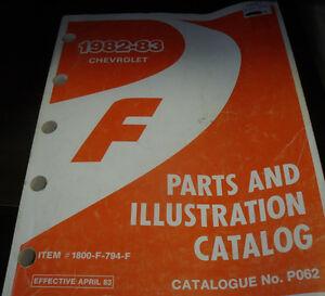 1982-83-Chev-Camaro-GM-Factory-Dealer-039-s-Original-Parts-Illustrations-Book-PO62