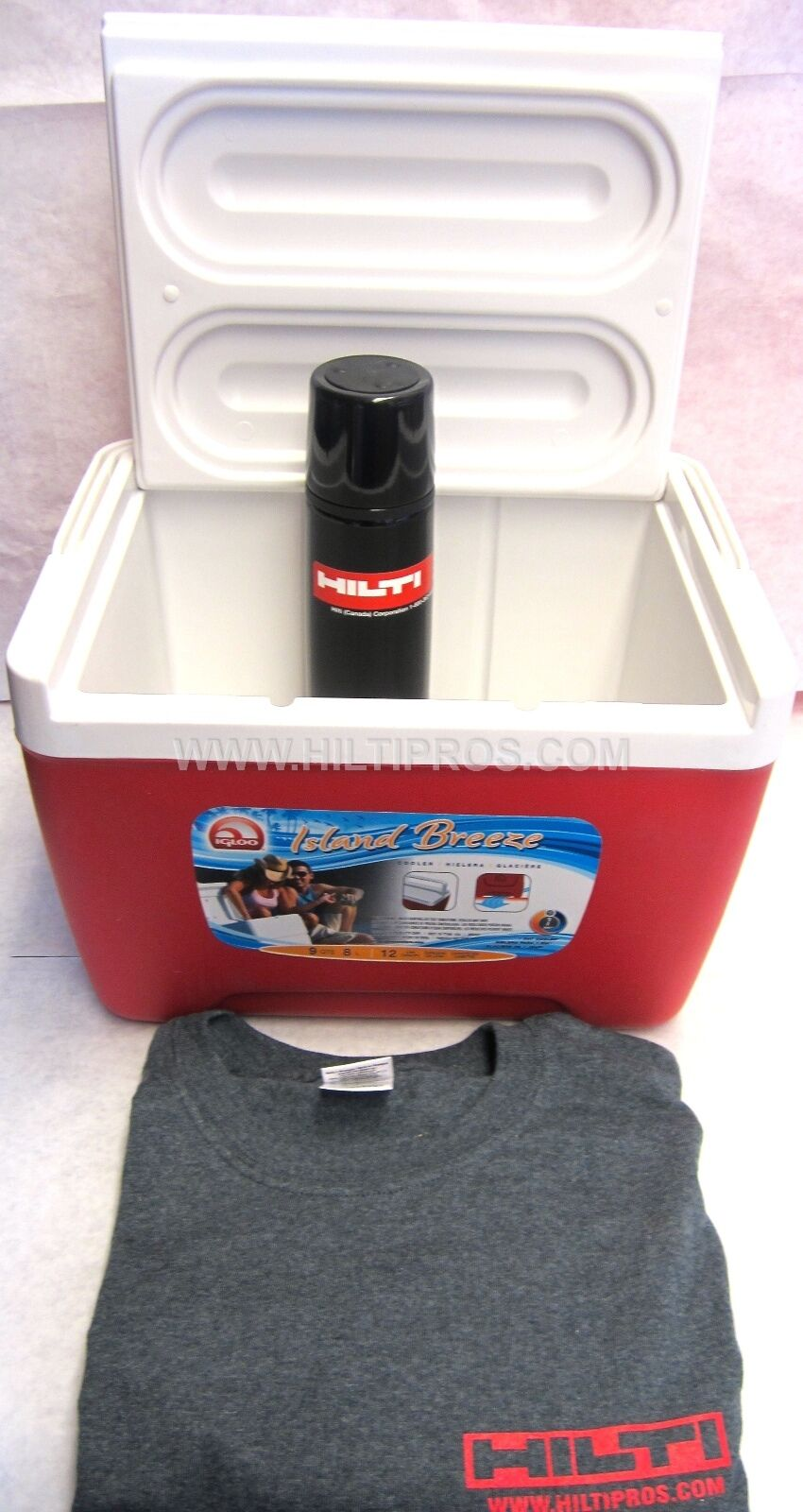 HILTI COOLER, T-SHIRT, HILTI THERMAL SHIPPING BOTTLE, EXCLUSIVE SET, FAST SHIPPING THERMAL 379639