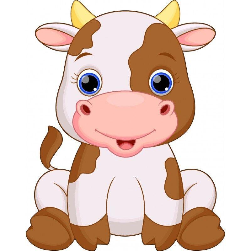Wandaufkleber Kind Tiere Kuh 15245