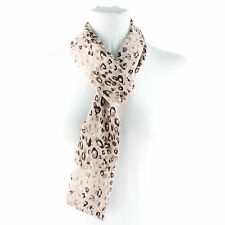 Fun Skinny Leopard Animal Print Loop Circle Eternity Infinity Scarf Chain Pink