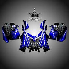 2010 - 2015 POLARIS PRO RMK - RUSH Decal Sticker Wrap Graphics Kit Guardian Blue