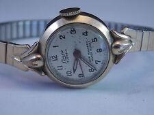 Vintage Swiss Made Ladies Wakmann Watch Co. Lourie Wristwatch 10K RGP 17 Jewels