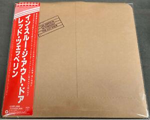 Led Zeppelin - IN THROUGH THE OUT DOOR - Japan Mini-LP CD - OBI - MINT!