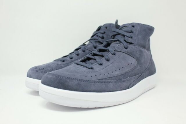 0885f79e5df Air Jordan 2 Retro Decon # 897521 402 Thunder Blue Suede Men SZ 7.5 - 13