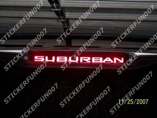 Chevy SUBURBAN 3rd Brake Light VINYL STICKER fits 2000 2001 2002 2003