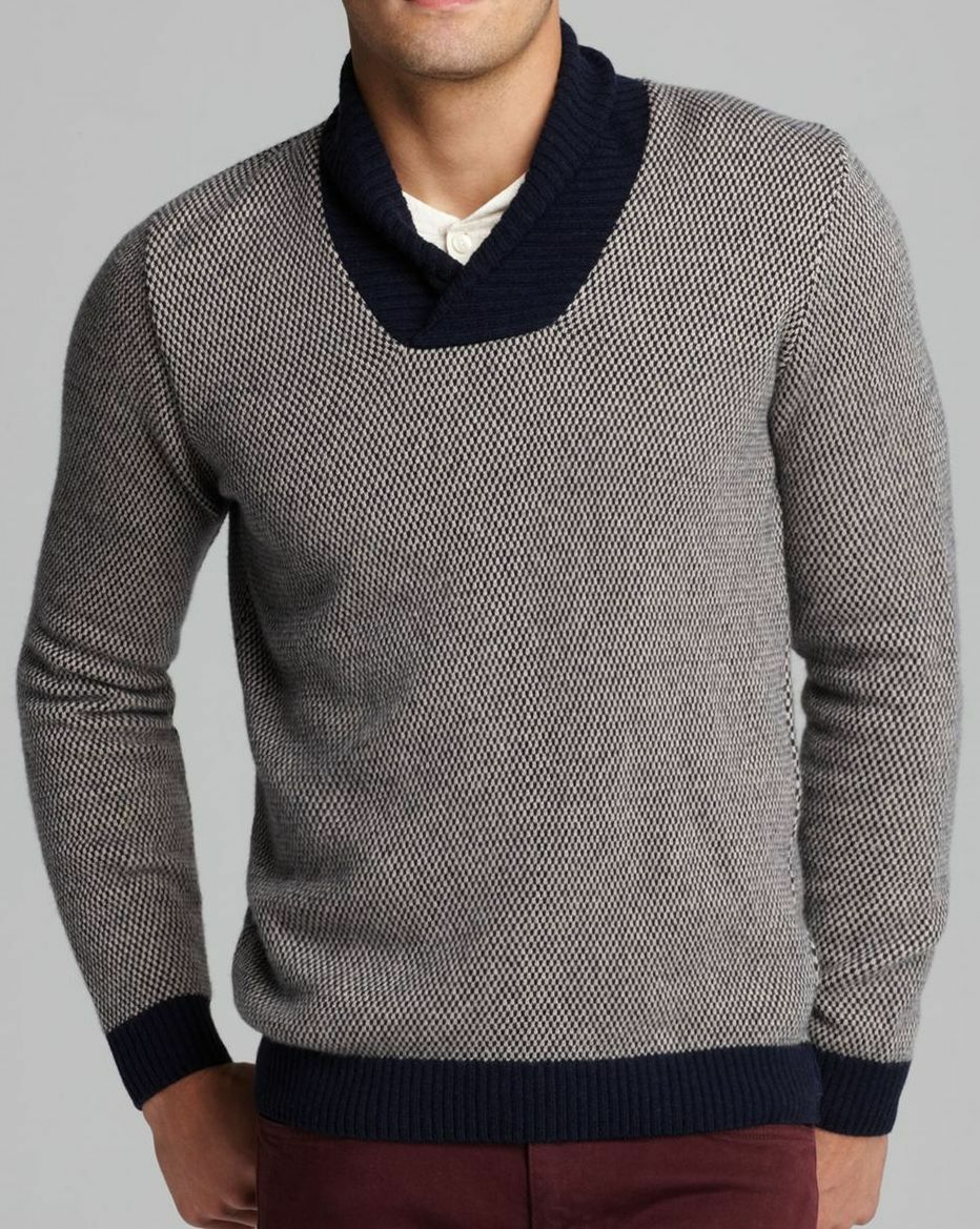 LACOSTE MENS JACQUARD SHAWL COLLAR SWEATER JUMPER SIZE 2 XS NEW RRP