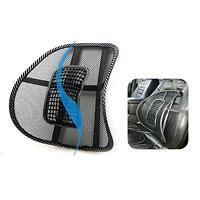Relax Kit Car Seat Chair Back Lumbar Waist Massage Mesh Cushion Support Pad X1