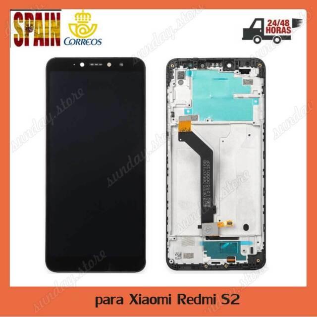 Pantalla LCD Para Xiaomi Redmi S2+TÁCTIL+MARCO Frame Negra Negro Digitalizador