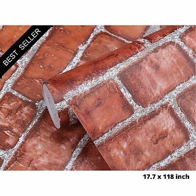 Gray Brick Peel and Stick Wall paper Self Adhesive Contact Paper Decor Sti YA56