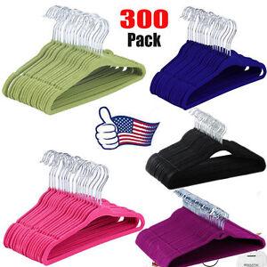 LOT 300 PCS Flocked Non-Slip Shoulder Velvet Clothes Shirt Kids' Hanger MS