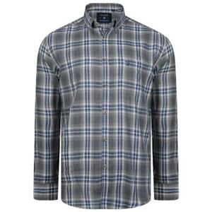 New-MENS-BIG-SIZE-TALL-KAM-Flannel-Long-Full-Sleeve-Check-Checkered-Shirt-Grey