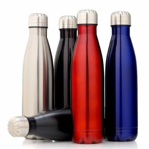 350-1000ML Water Bottle Vacuum Insulated Flask Thermal Sport Chilly Cold Cups UK