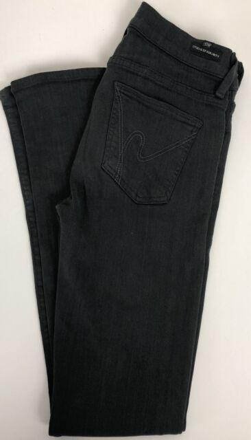 COH Citizens Of Humanity Avedon Slick Skinny Leg Low Rise Jeans Black