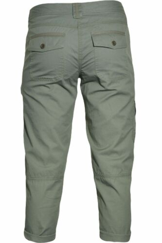 Tommy Hilfiger Women/'s Cropped Cargo Pants Capri Ammunition Green  Sz 4  ret-$59