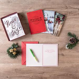 80ct Random Assortment Deluxe Christmas Greeting Cards & Envelopes Bulk Box Set