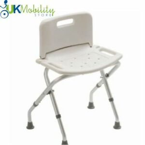 Image is loading Folding-Portable-Shower-Seat-Backrest-Stool-Bath-Chair-  sc 1 st  eBay & Folding Portable Shower Seat Backrest Stool Bath Chair Mobility Aid ...