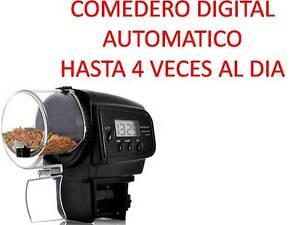 COMEDERO DIGITAL AUTOMATICO alimentador comida peces tortugas Acuario Pecera