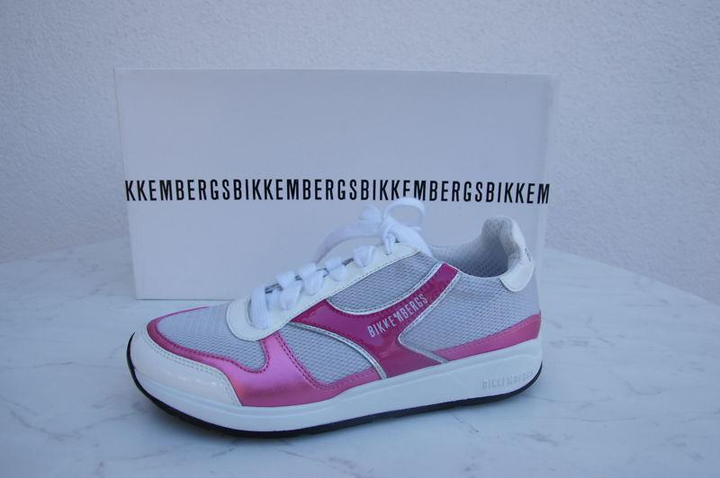 orig Bikkembergs Gr Sneakers Gr Bikkembergs 37 Sportschuhe Schuhe Shoes silber  neu fe063b